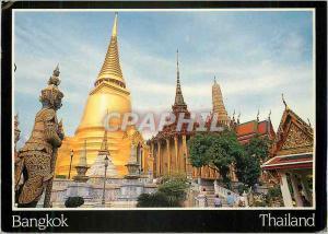 Moderne Karte Thailand Bangkok Temple of the Emerald Buddha Bangkok