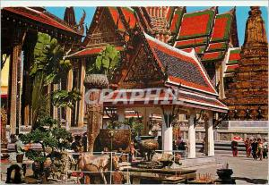 Moderne Karte Bangkok Thailand Inside of the Emerald Buddha Temple