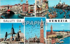 Moderne Karte Saluti da Venezia Bateaux