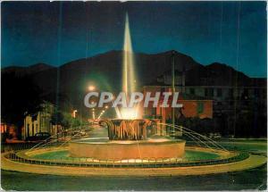 Moderne Karte Sora (Frosinone) Avenue XX Sellembre et Fontaine (la Nuit)