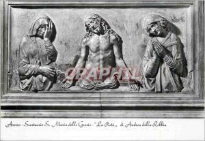 Moderne Karte Arezzo Sanctuaire de S Marie des Graces La Piete par A della Robbia Christ