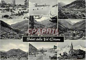 Moderne Karte Salutations de la Vallee Chisone