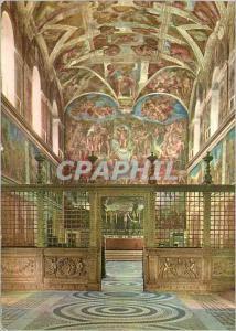 Moderne Karte Roma Vaticano Interno Cappella Sistina