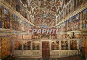 Moderne Karte Roma Vaticano Interno Cappela Sistina