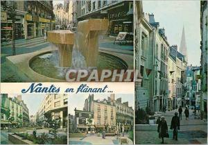 Moderne Karte Nantes en Flanant (Loire Atlantique) Cree au Coeur meme de la Ville