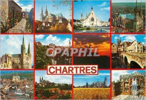 Moderne Karte Chartres (Eure et Loir) Les Merveilles de Chartres La Maison dite de Picassiette La Cathedrale (
