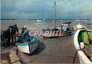 Moderne Karte Retour de Peche sur la Cote Atlantique Bateaux de peche
