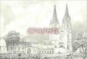 Moderne Karte Soissons (Aisne) Ancienne Abbaye Saint Jean des Vignes Cloitre et Fleches