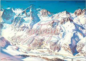 Moderne Karte Valais Arolla 2000 m Val d'Herens