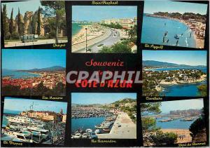 Moderne Karte Souvenir de Cote d'Azur Frejus Saint Raphael St Aygulf Cavalaire St Tropez