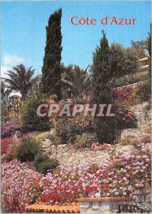 Moderne Karte Jardins Fleuris de la cote d'Azur Lumiere et Beaute de la Cote d'Azur
