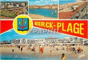 Moderne Karte Berck Plage (Pas de Calais) La Cote d'Opale L'Entonnoir La Plage L'Esplanade Pormentier La Plage