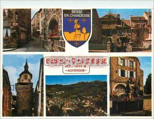 Moderne Karte Besse en Chandesse Cite Medievale Image d'Auvergne