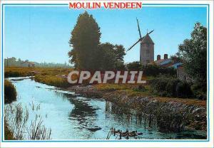 Moderne Karte Moulin Vendeen Au Pays de Monts