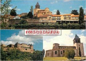 Moderne Karte Pont du Chateau (Puy de Dome) Les Bords de l'Allier Eglise Maritime Le Chateau