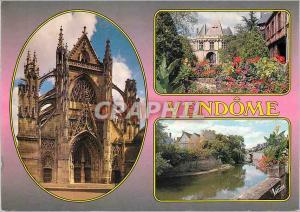 Moderne Karte Vendome (Loir et Cher) La Vallee du Loir L'Eglise de la Trinite Facade Occidentale Style Flambao