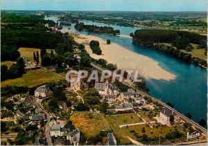 Moderne Karte Treves (Maine et Loire) les Merveilles du Val de Loire Panorama