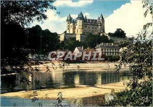 Moderne Karte Saumur (Maine et Loire) les Chateaux de la Loire le Chateau Surplombant la Ville et la Loire