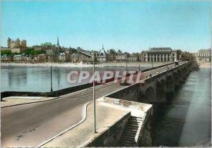 Moderne Karte Saumur (M et L) Val de Loire le Pont sur la Loire et la Ville