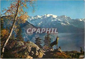 Moderne Karte Le Chamois des Alpes