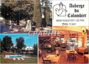 Moderne Karte Roquefort les Pins Auberge du Colombier