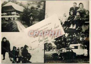 Moderne Karte Mr et Me Duvicq Rene et leurs Enfants V�ux Caravane Enfants