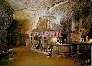 Moderne Karte Au Pays des Vins de la Loire Cave Creusee dans la Pierre ou Vieillit Lentement le Bon Vin