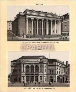 Ansichtskarte AK Nantes Le Grand Theatre Construit en 1788 Le Theatre de la Renaissance