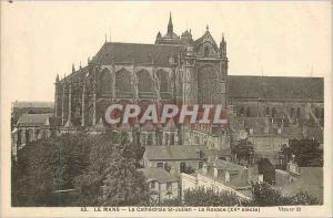 Ansichtskarte AK Le Mans La Cathedrale St Julien La Rosace (XVe Siecle)