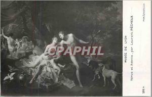 Moderne Karte Musee de Lyon Venus et Adonis par Laurent Pecheux