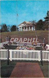 Moderne Karte Arlington National Cemetery Grave of John F Kennedy the 35th President of the United States Over