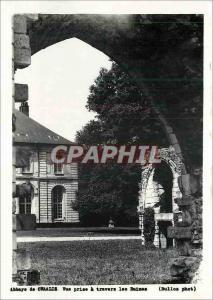 Moderne Karte Abbaye de Chaalis Vue prise a travers les Ruines