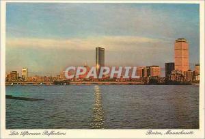 Moderne Karte Boston Massachusetts Late Afternoon Reflections