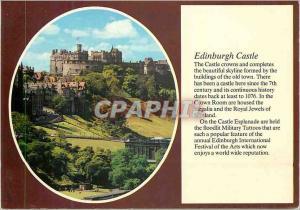 Moderne Karte Edinburgh Castle The Castle Crowns