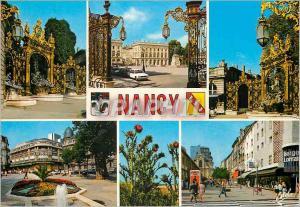 Moderne Karte Nancy (Meurthe et Moselle) La Place Stanislas Batie entre 1752 et 1756