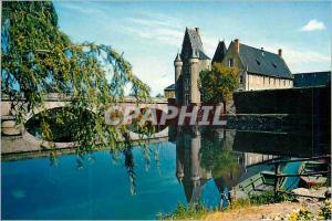 Moderne Karte La Fleche (Sarthe) Le Chateau et le Pont sur le Loir