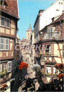 Moderne Karte Colmar Au Pays de Cigognes La Rue des Marchands