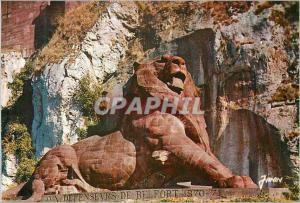 Moderne Karte Belfort (Terr de Belfort) Le Lion Hauteur 11 m Long 22 m Oeuvre de Bartholdi