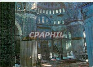 Moderne Karte Istanbul Turkiye Interieur de la Mosquee Bleue