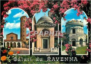 Moderne Karte Saluti da Ravenna Basilica di S Apollinare Nuovo (sec VI) Tomba di Dante Tomba di Teodorico (sec