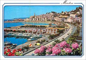 Moderne Karte Menton la Cote d'Azur la Perle de France Porte de France au Fond la Vieille Ville