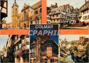 Moderne Karte Colmar (Haut Rhin) l'Alsace Couleurs et Lumiere de France la Cathedrale la Rue des Marchands Rue