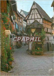 Moderne Karte Eguisheim (Haut Rhin) l'Alsace Couleurs et Lumiere de France le Pigeonnier