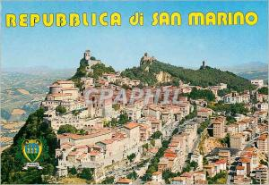 Moderne Karte Republica di S Marino Les Trois Tours et Panorama