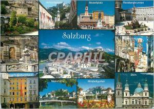 Moderne Karte Mozartstadt Salzburg The Mozart City Salzburg