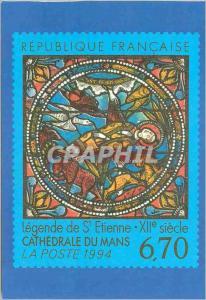 Moderne Karte Cathedrale du Mans Legende de St Etienne XIIe siecle Republique Francaise