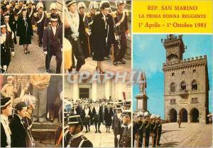 Moderne Karte Rep San Marino la Prima Donna Reggente Militaria