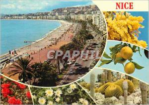 Moderne Karte Nice la Cote d'Azur Inoubliable
