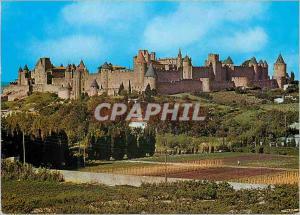 Moderne Karte Cite de Carcassonne (Aude) Vue Generale de la Cite
