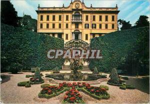 Moderne Karte Lac de Come Tremezzo Villa Carlotta